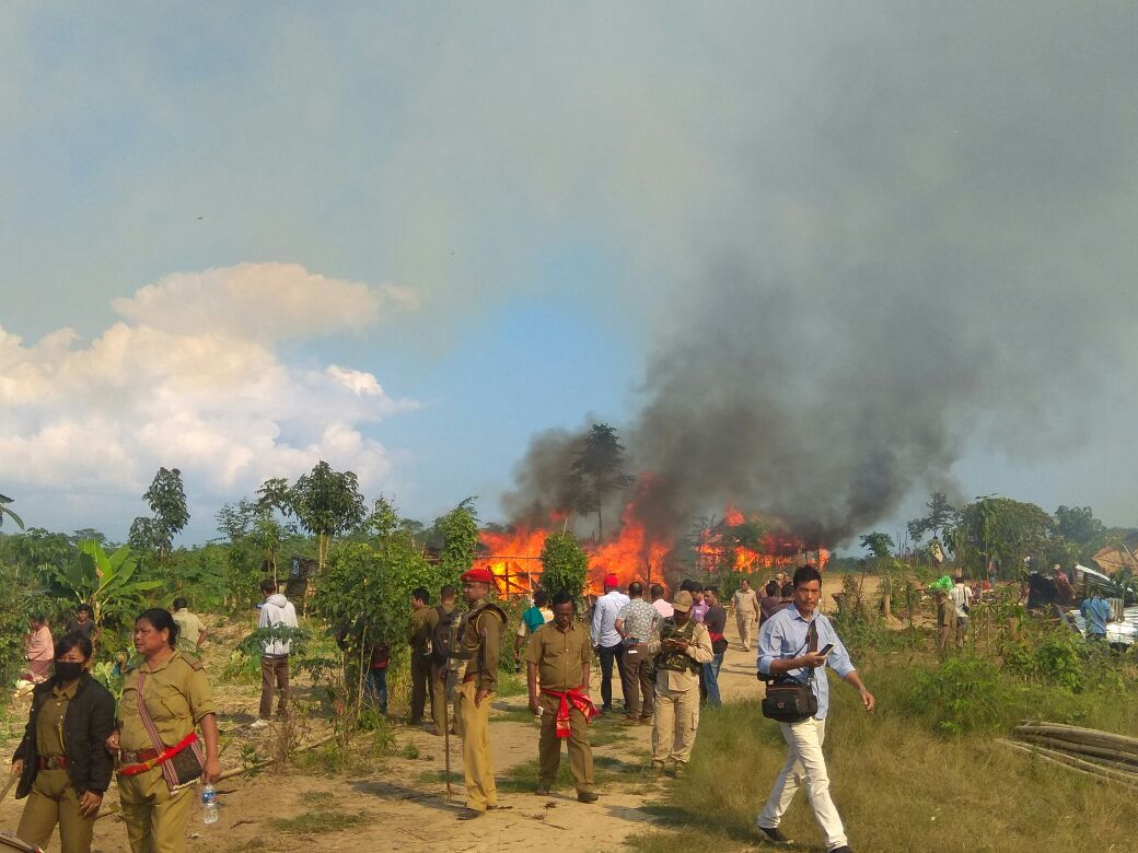 Naga settlers evicted from Assam-Nagaland border in East Karbi Anglong 1