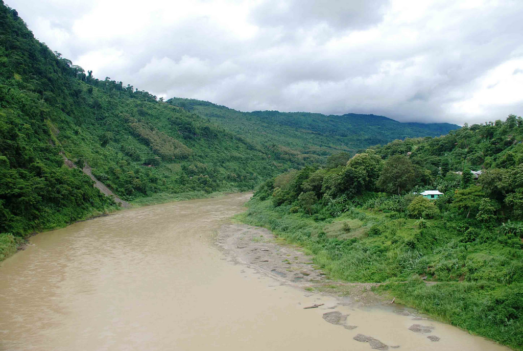 File picture of Kaladan river in Chin State of Myanmar