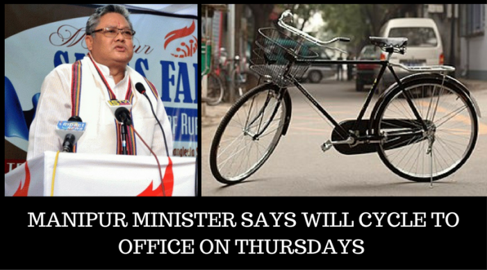 Will cycle one km to office on every Thursday: Manipur Minister 1