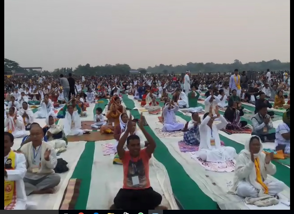 Free Yoga meditation camp in Kokrajhar. Photo by Rinay Basumatary