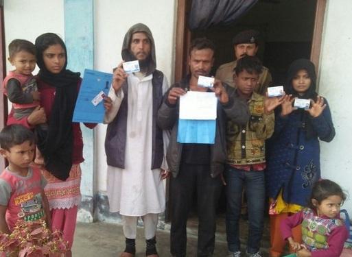 Eight Rohingyas apprehended at Khayerpur in Tripura on Wednesday. Photo: Pinaki Das