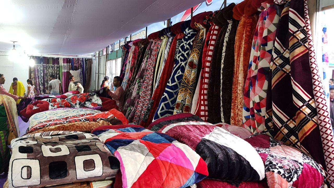 A view of the stall at national handloom expo at Kokrajhar. Photo by Rinay Basumatary Representative image