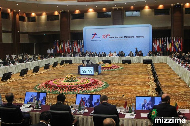 13th Asia Europe Foreign Ministers Meeting (ASEM) in Nay Pyi Taw on November 20, 2017. Photo: Thura/Mizzima