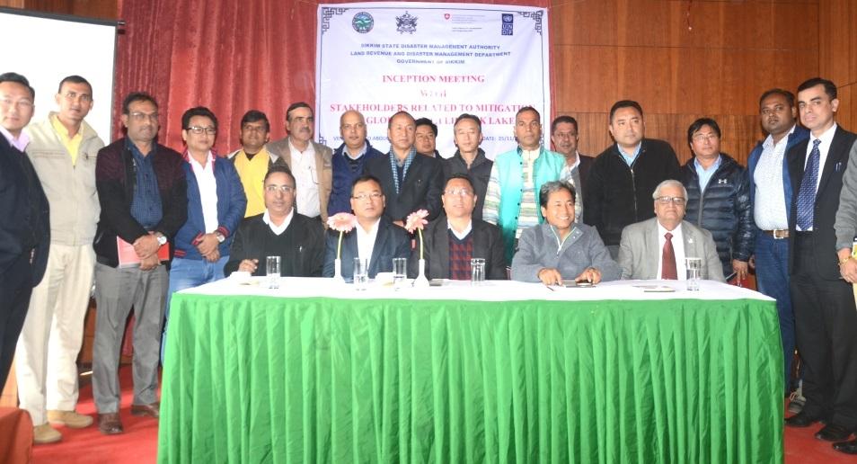 Inception meeting on mitigation of GLOF in South Lhonak Lake on Saturday in Gangtok. Photo by Sagar Chhetri
