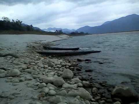 A view of Siang river at Pasighat in Arunachal Pradesh.