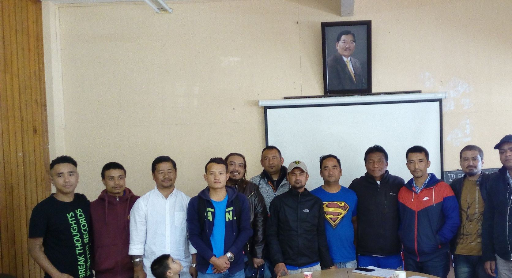 Serenity Cup Football tournament organisers addressing a press conference in Gangtok on Friday.