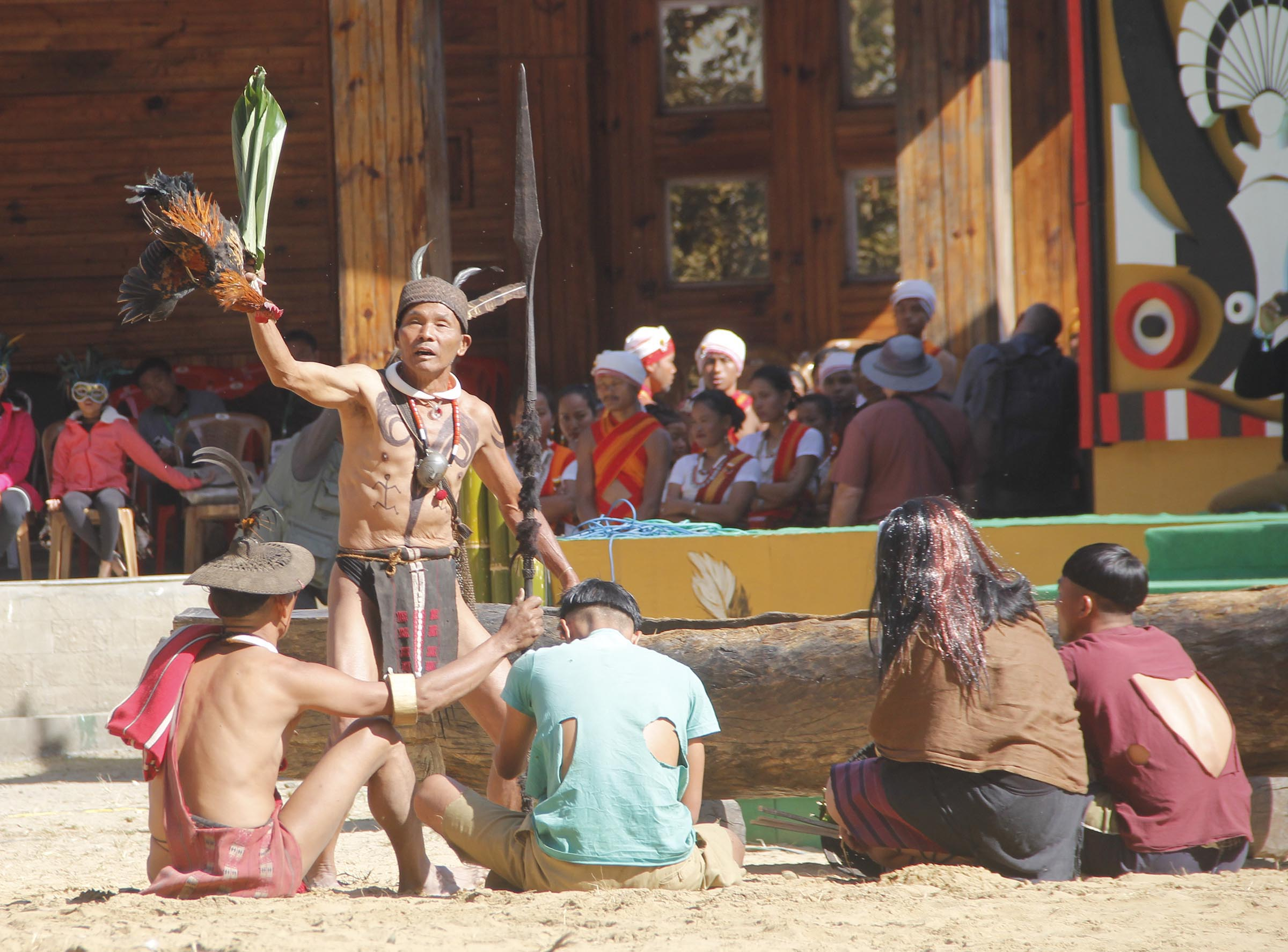 Fille picture: Traditional dance being performed during  Hornbill Festival.
