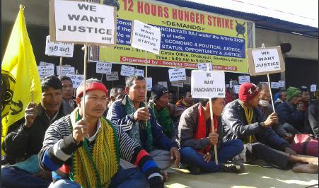 ABSU stages hunger strike demanding inclusion non-panchayat villages under Panchayati Raj system 1