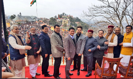 Assam CM along with CMs of other BJP ruled states during the swearing-ceremony.