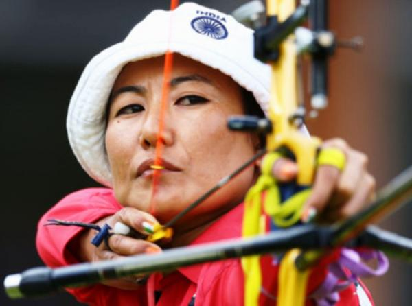 Celebrated Nagaland archer Chekrovolu Swuro who represented India at the London Olympics