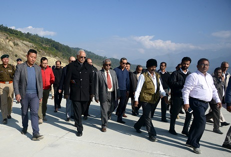 Civil aviation minister visits Pakyong airport construction site in Sikkim 1