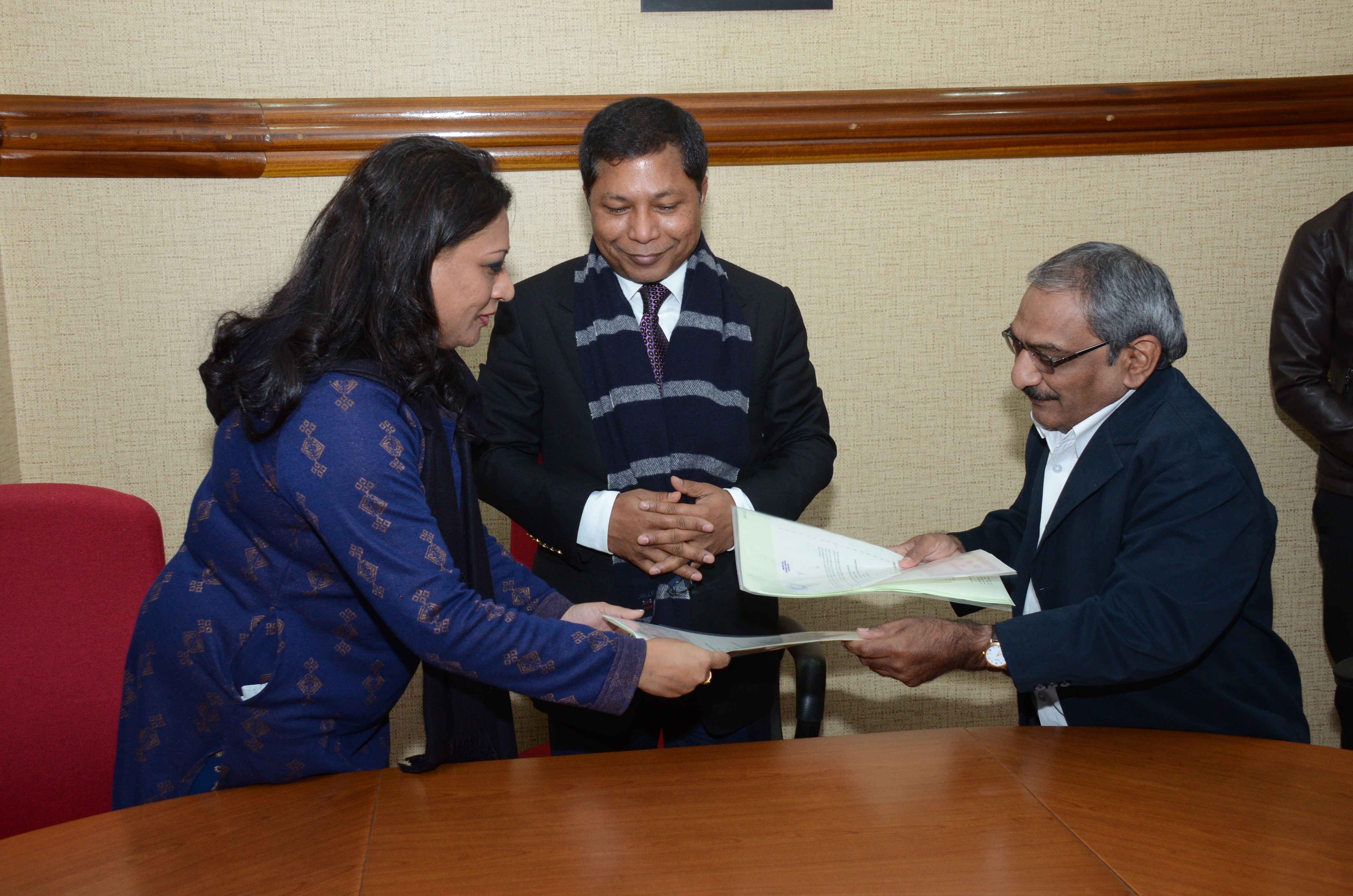 Exchange of Memorandum of Agreement signed between the Meghalaya government and Renew Joule Private Limited in Shillong on Wednesday.