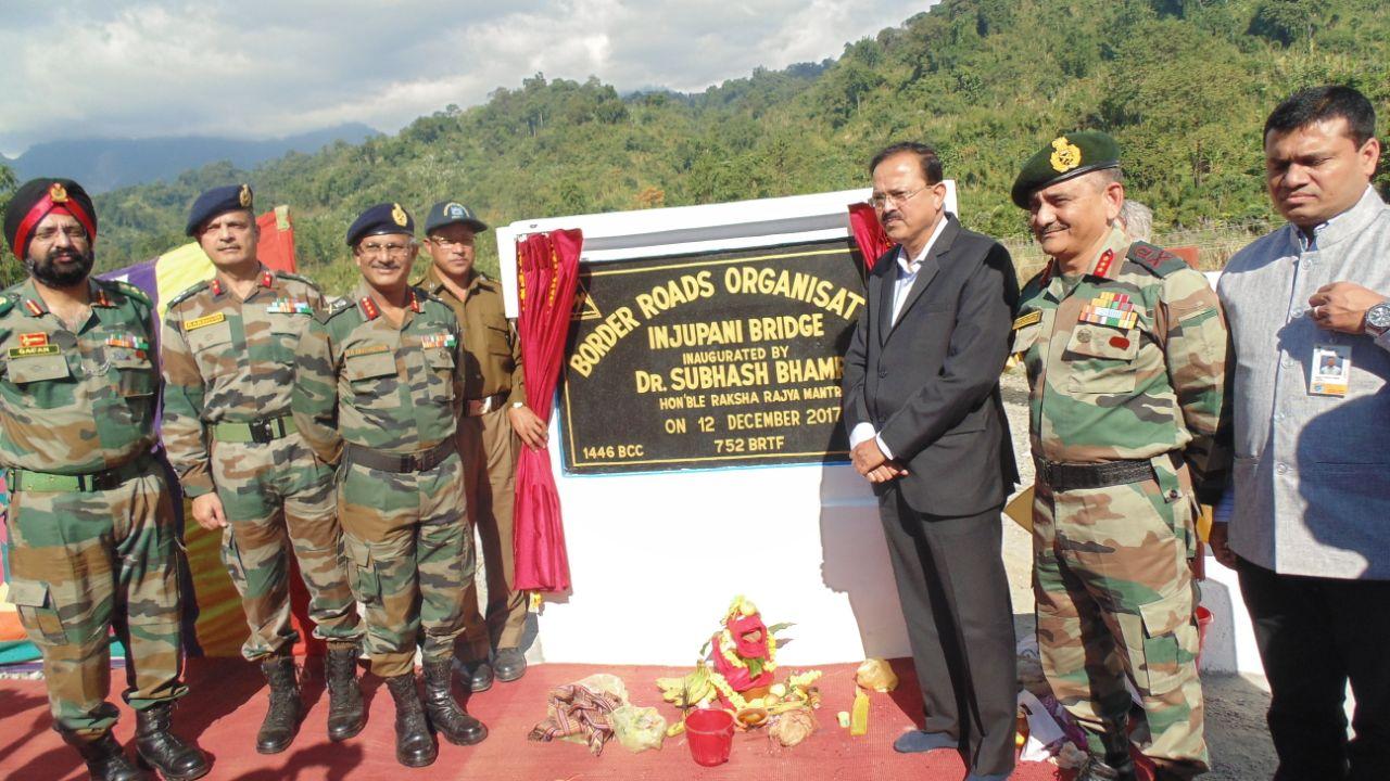Junior Defence Minister Bhamre visits Indo-China border 1