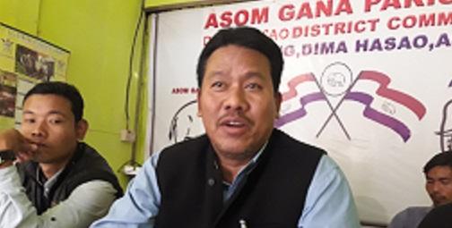Former MP Prakanta Warisa. Photo : Pankaj Kumar Deb