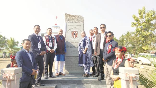 Nagaland Governor P B Acharya after unveiling the 48th SKK general conference monolith