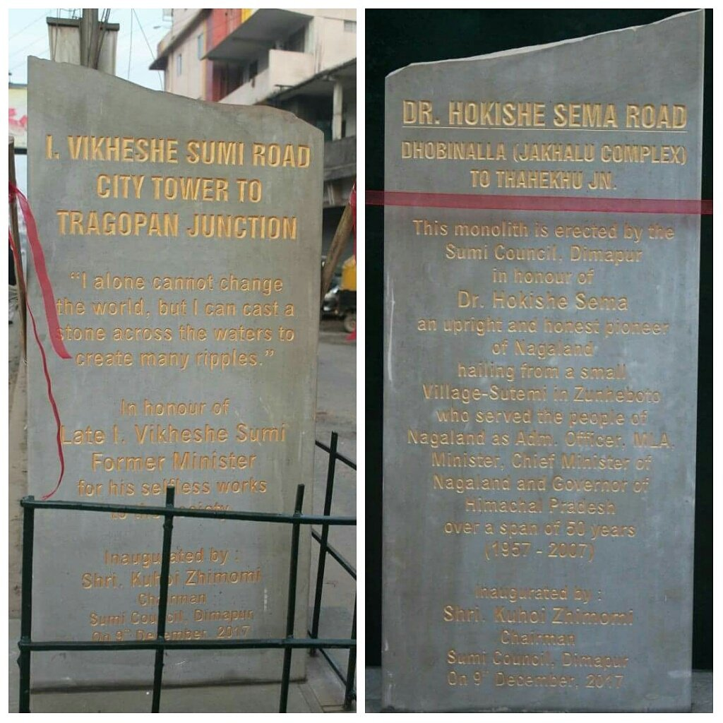 Two roads in Nagaland named after Naga leaders 2