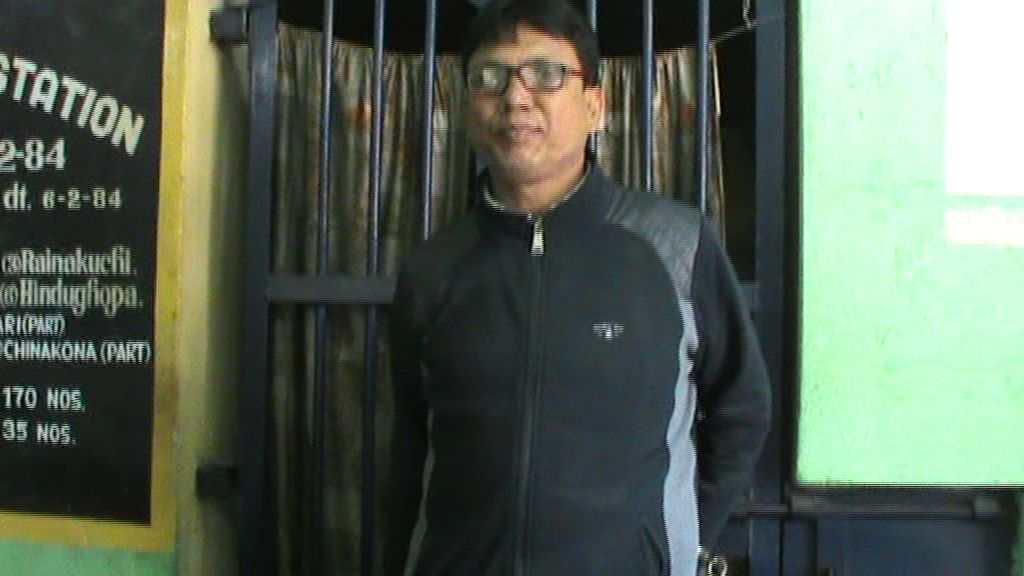 Arrested police official Mukut Ali
