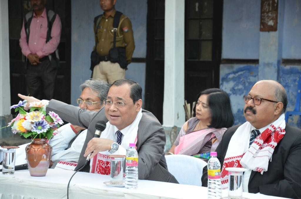 File photo of Justice Ranjan Gogoi speaking at the event in Dibrugarh.