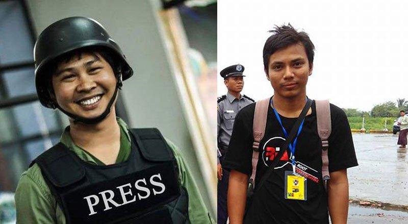 Two arrested journalists in Myanmar. File photo : Mizzima News