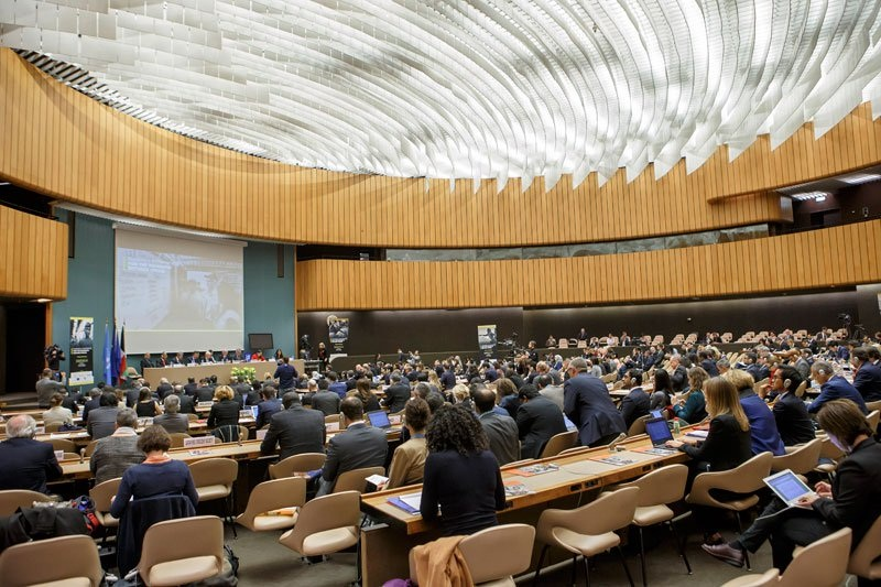 File Picture : A view of the assembly, during the Pledging Conference for the Rohingya Refugee Crisis, at the European headquarters of the United Nations in Geneva, Switzerland on  October 23, 2017. Photo: Mizzima News