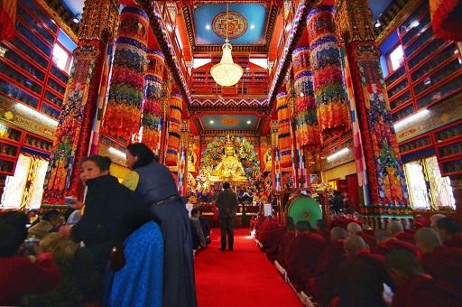 A view of the interior of the gumpa. Photo : Sagar Chhetri