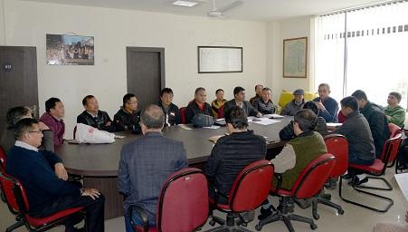 BAS officials addressing media on All India Senior Ranking Badminton Tournament in Sikkim. Photo: Sagar Chhetri