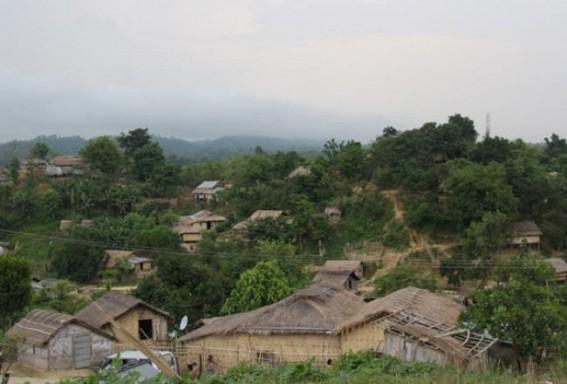 A view of Bru relief camp. Photo : S Hmar