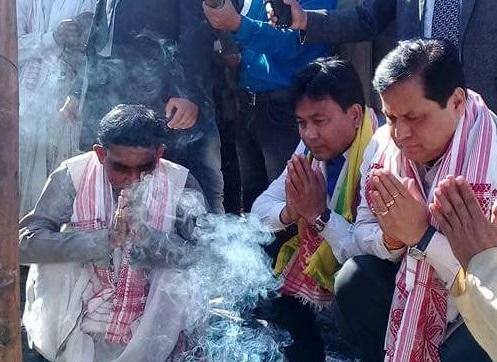 Sonowal lays 'Lai Khuta' of Buridehing-Bordumsa conference of Axom Sahitya Sabha 1