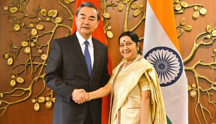 Foreign Minister Wang Yi told Sushma Swaraj Doklam standoff put severe pressure on the Indo-China ties 1