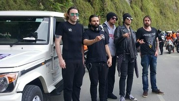 Members of Gun 2 Roses band in Aizawl on Wednesday to perform in Aizawl Rock Fest. Photo : Sangzuala Hmar