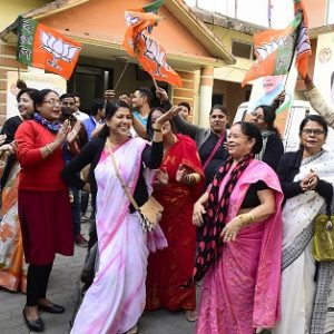 BJP supporters in North East celebrate party's victory in Gujarat and HP 4