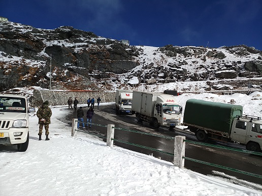 A view of Nathula border. Photo : Sagar Chhetri