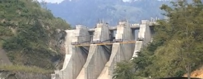 File picture of Tuirial hydro power project in Mizoram.