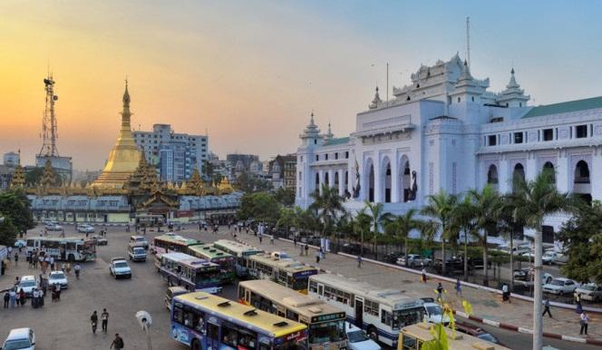 File picture of Yangon.