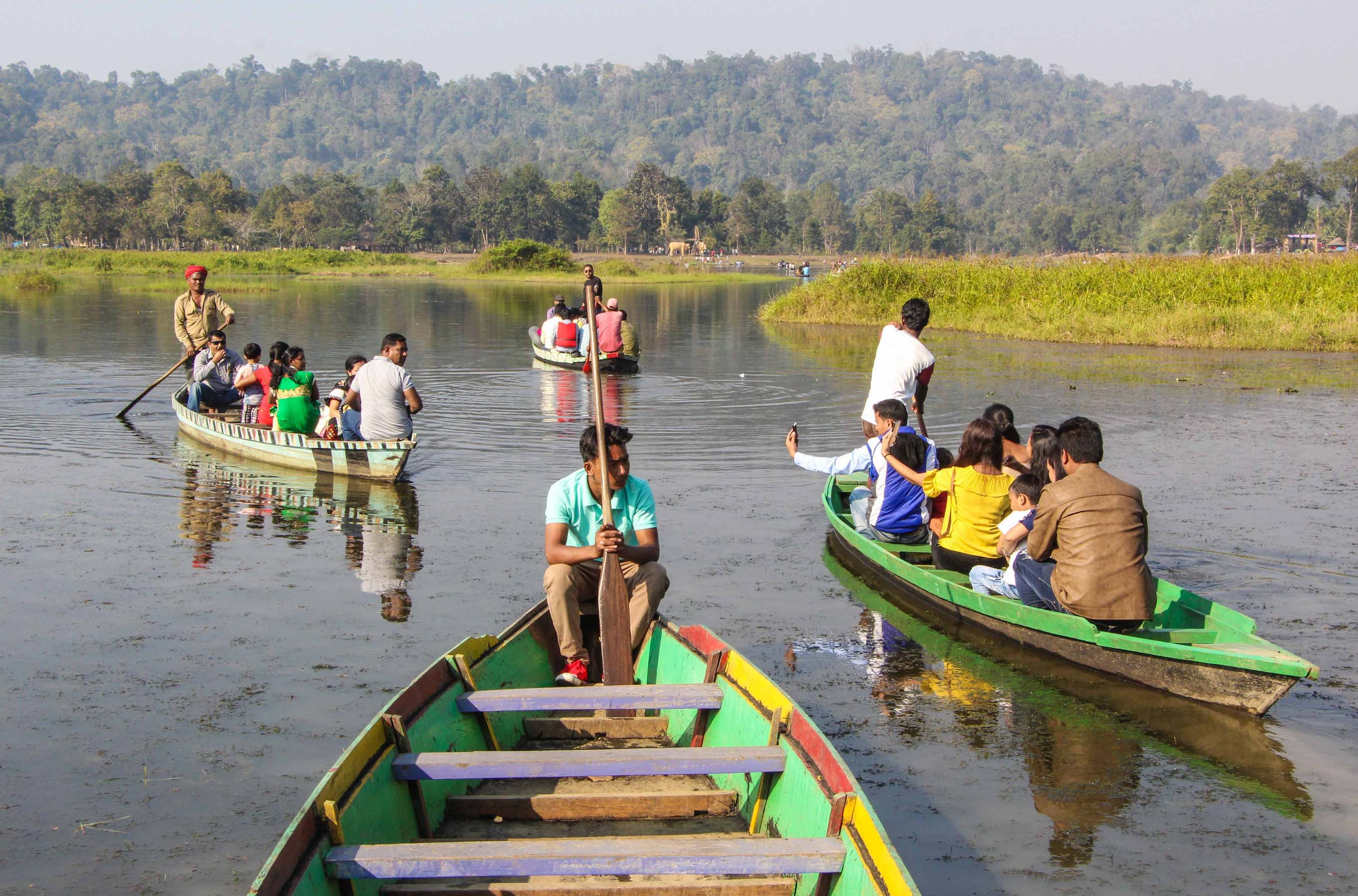 People enjoying boat ride at an earlier  chapter of Chandubi Festival at Chandubi in Kamrup district. File photo Northeast Now.