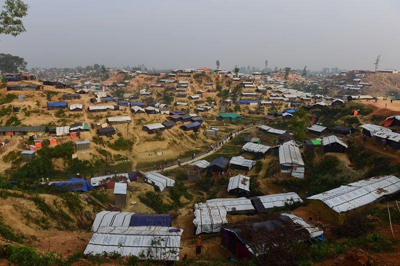 A view of Rohingya camp in Bangladesh. File photo