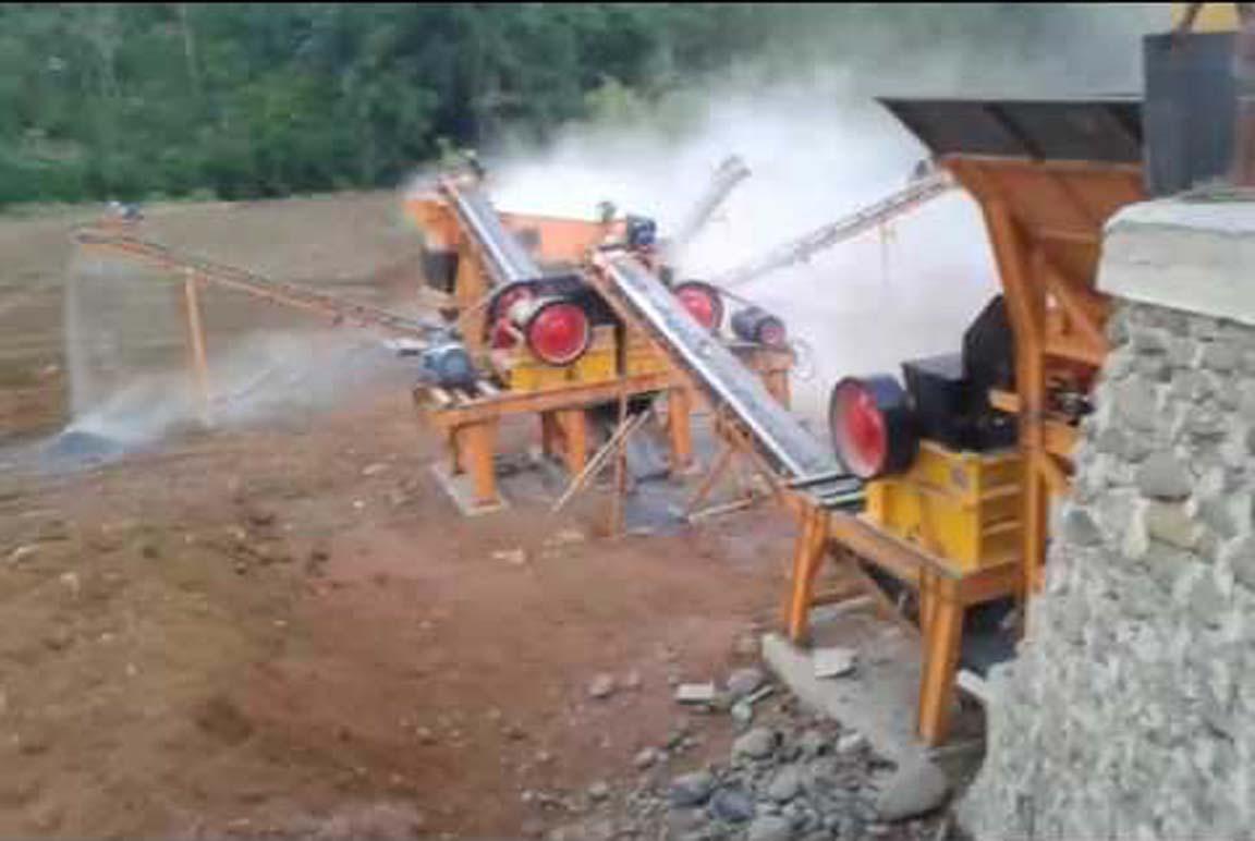 Representative image of a stone crushing unit.