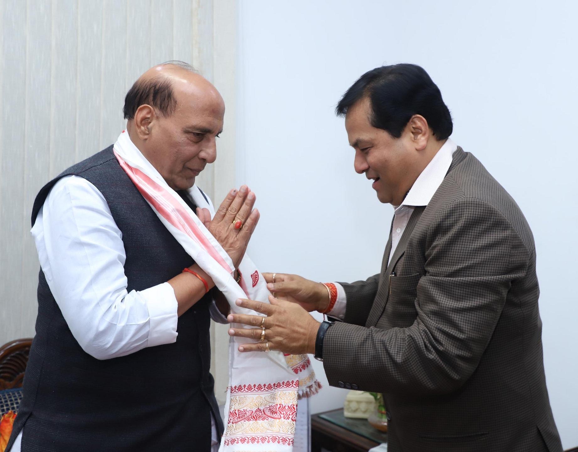 Sonowal meets Rajnath Singh