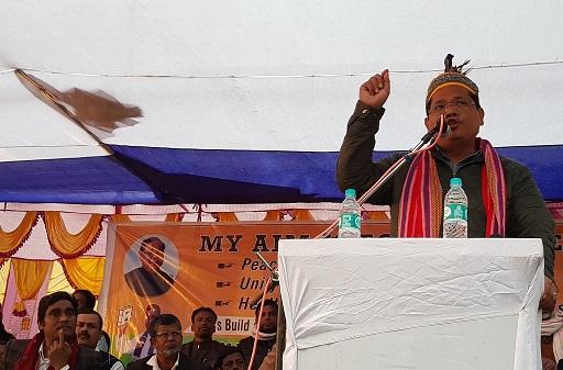 Conrad at the rally