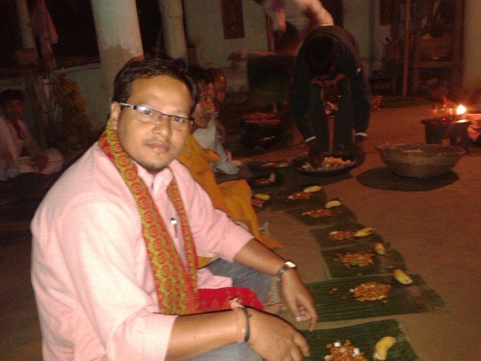 File photo of MLA Gurujyoti Das who installed the Lai khuta.