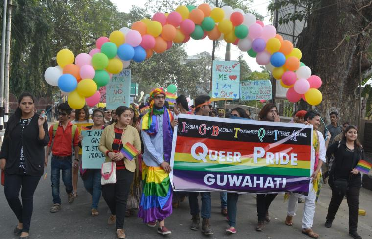 Youths participate at a  queer pride in Guwahati. (File photo)