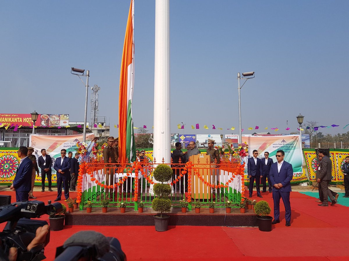 Manipur Chief Minister hoists 'tallest' tricolour in Imphal 1