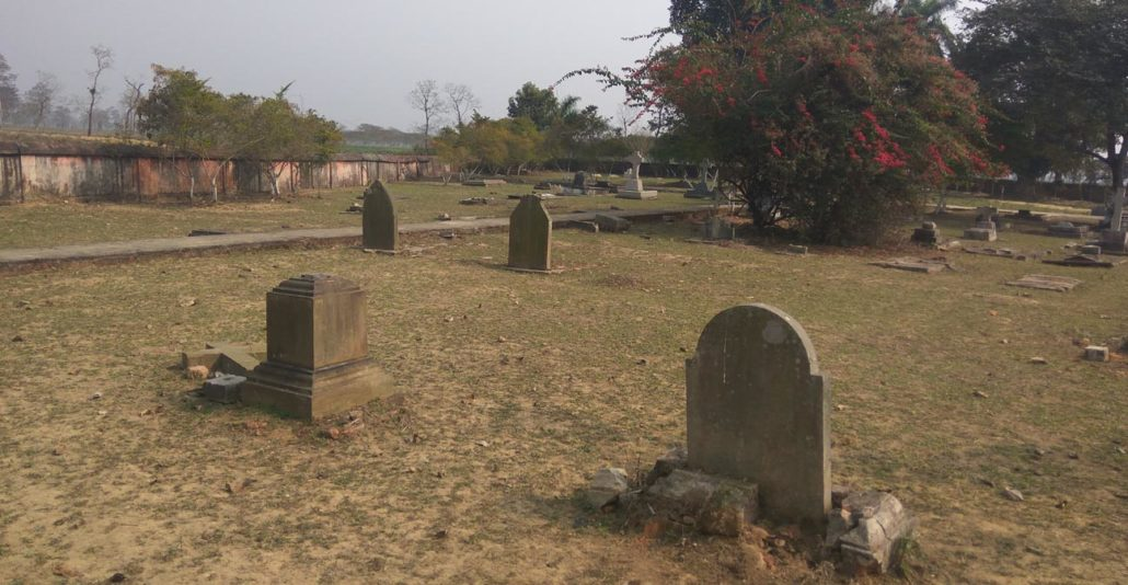 The cemetery inside the Cinnamara Tea Estate in Jorhat.