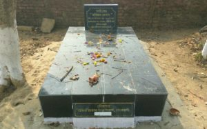 The tomb, which is believed to be that of Maniram Dewan at the cemetery inside the Cinnamara Tea Estate in Jorhat.