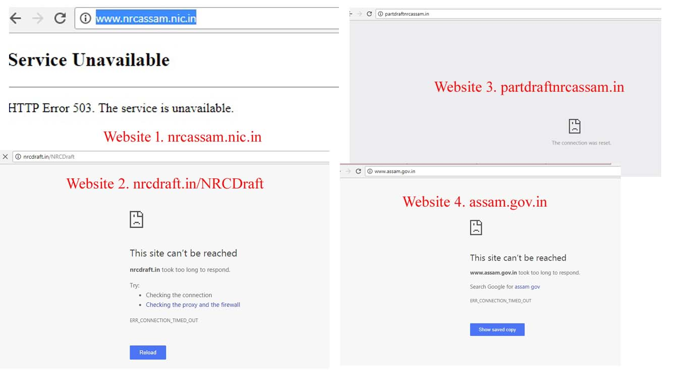 NRC websites go down; people have tough time to find their names on sites 1