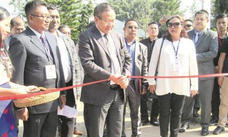 Nagaland CM TR Zeliang  launching a project. (File photo)