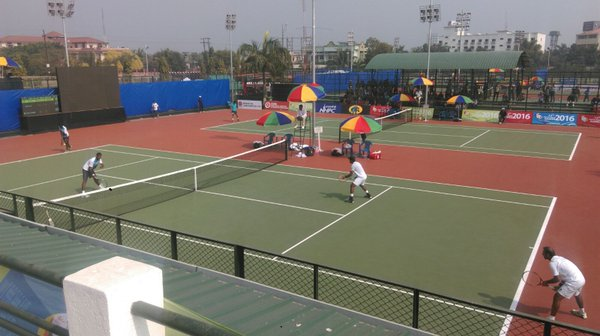 A view of the All Assam Tennis Association Complex, at Chachal in Guwahati