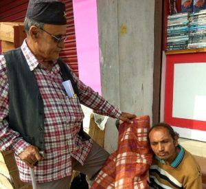Warmth of humanity in wintry morning on Jorhat footpath 2