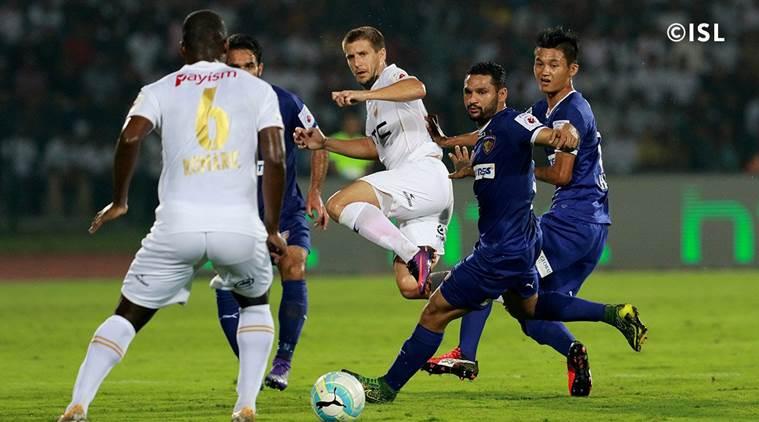 ISL: NorthEast United FC beat Chennaiyin FC?3-1 in Guwahati 1