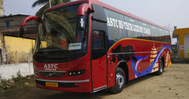 volvo bus service between silchar and ghy